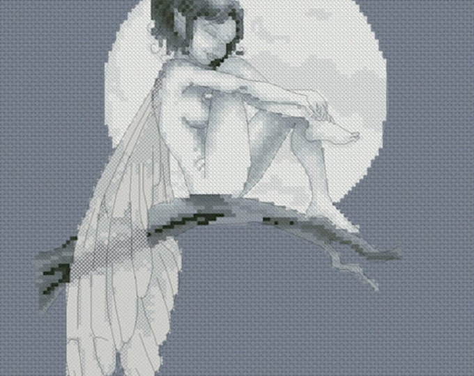 Cross Stitch Chart Pascal Moguerou Moonlight Fairy Fantasy Art