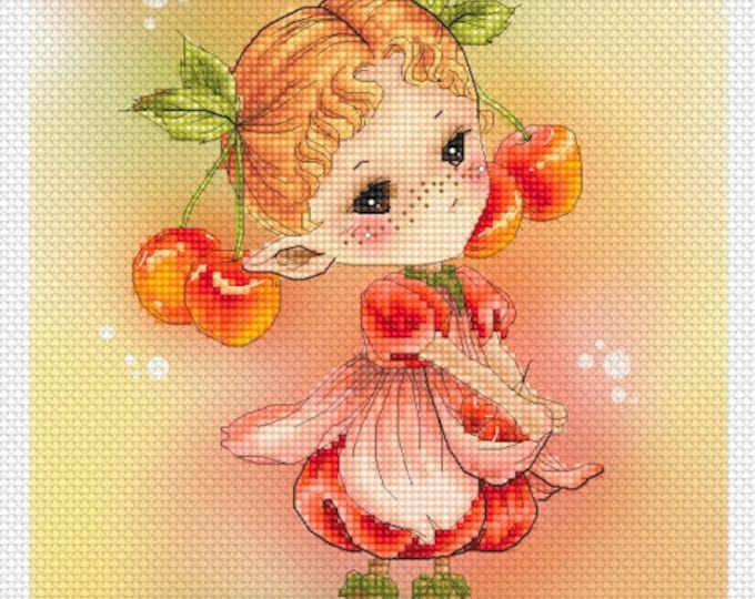 Cherry Sprite Mitzi Sato-Wiuff - Cross stitch Chart Pattern