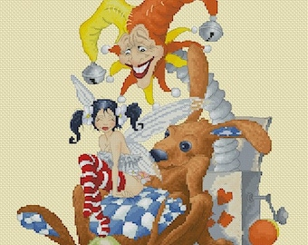 Cross Stitch Chart Pascal Moguerou Toys Fantasy Art