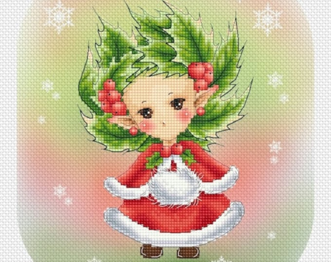 Holly Sprite Mitzi Sato-Wiuff - Cross stitch Chart Pattern