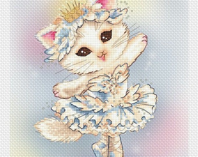 Ballerina Kitty Mitzi Sato-Wiuff - Cross stitch Chart Pattern