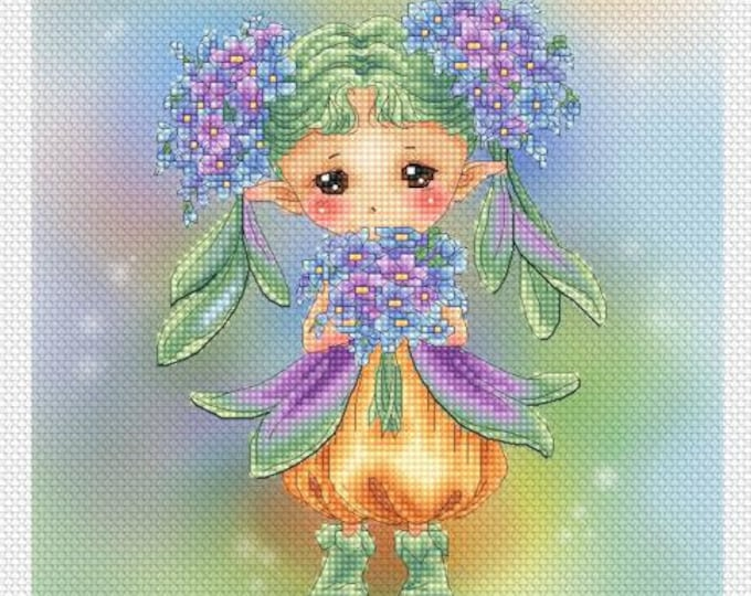 Forget-Me-Not Sprite Mitzi Sato-Wiuff - Cross stitch Chart Pattern