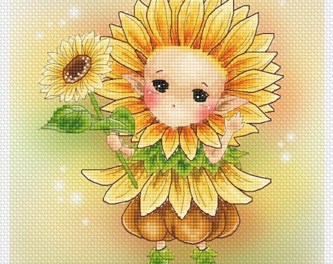 Sunflower Sprite Mitzi Sato-Wiuff - Cross stitch Chart Pattern