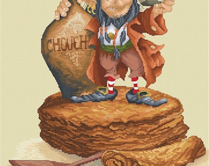 Cross Stitch Chart Chouchen and Crepes by Pascal Moguerou Fantasy Art