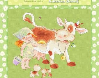Give Cow Pancake Cross Stitch Chart Pattern by Katerina Babok