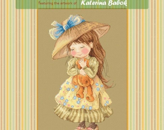Teddy have I loved - Katerina Babok Girls Cross Stitch and Needlepoint Chart Pattern