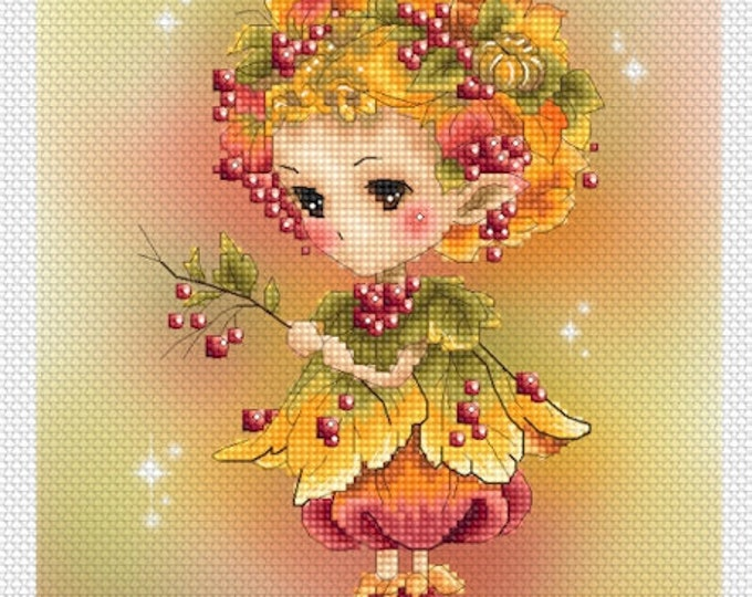 Autumn Sprite Mitzi Sato-Wiuff - Cross stitch Chart Pattern