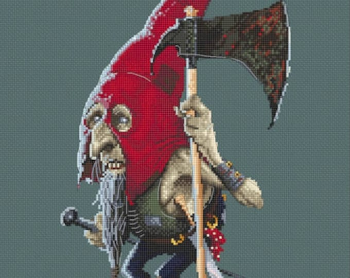 Cross Stitch Chart Boo by Jean-Baptiste Monge