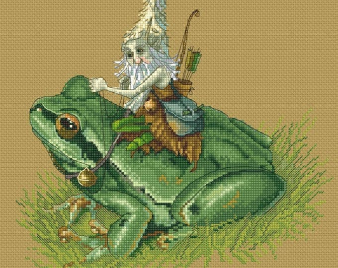 Cross Stitch Chart Hunter on Frog  by Jean-Baptiste Monge