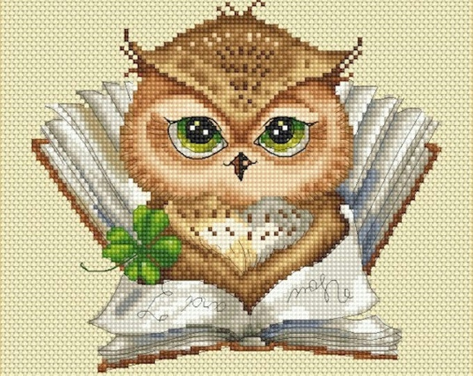 Cross stitch chart pattern Owl owlet My Favorite Book