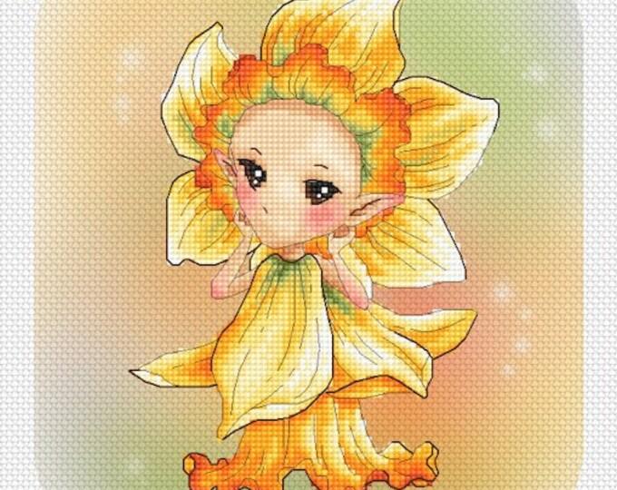 Daffodil Sprite Mitzi Sato-Wiuff - Cross stitch Chart Pattern