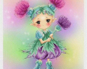 Thistle Sprite Mitzi Sato-Wiuff - Cross stitch Chart Pattern