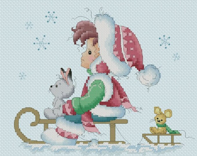 DISCONTINUED Let it snow by Sylvia Zet  - Cross Stitch Needlepoint Chart Pattern