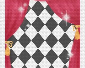 Printed Fabric for Pierrot by Mitzi Sato-Wiuff