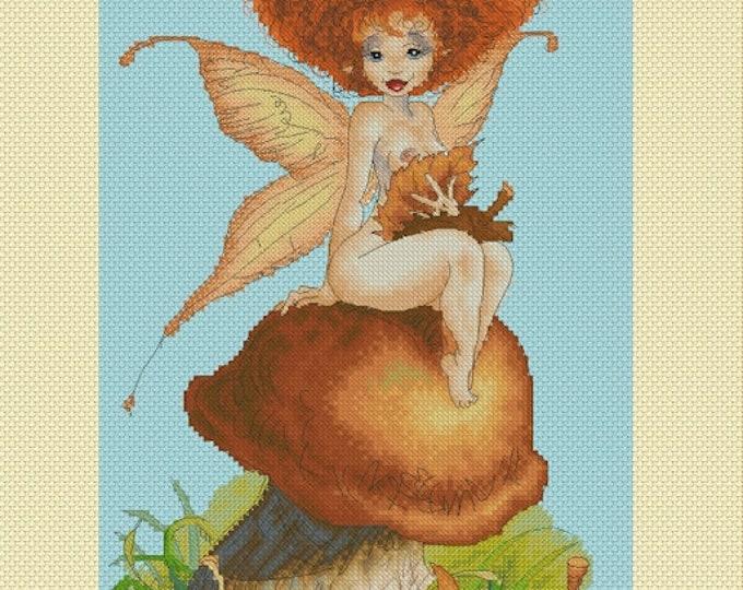 Cross Stitch Chart Mushroom Fairy Pascal Moguerou Fantasy Art