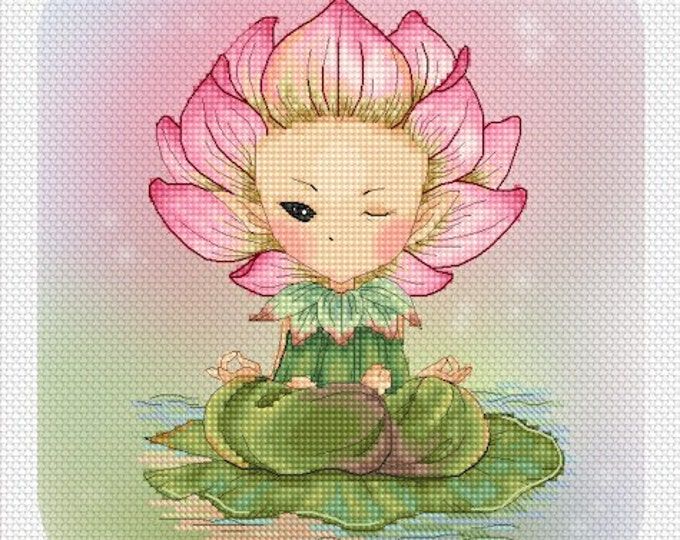 Cross stitch Chart Pattern Flower Sprites -  Lotus Sprite