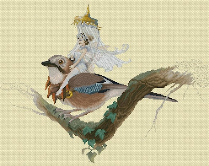 Cross Stitch Chart Jay Fairy by Pascal Moguerou