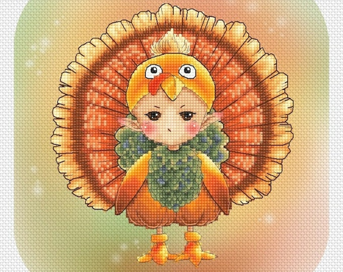 Turkey Sprite Mitzi Sato-Wiuff - Cross stitch Chart Pattern
