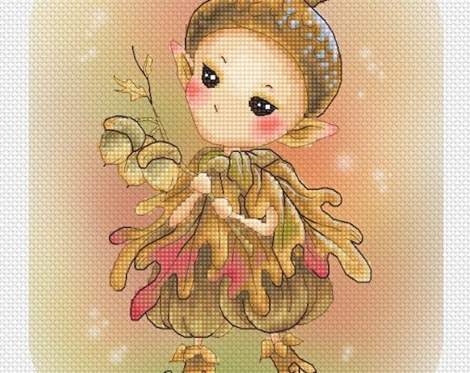 Acorn Sprite Mitzi Sato-Wiuff - Cross stitch Chart Pattern
