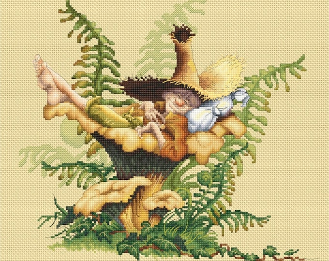 Cross Stitch Chart Siesta by Pascal Moguerou Fantasy Art