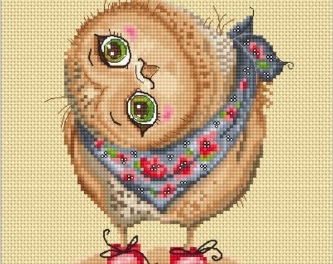 Cross stitch chart pattern Owl owlet