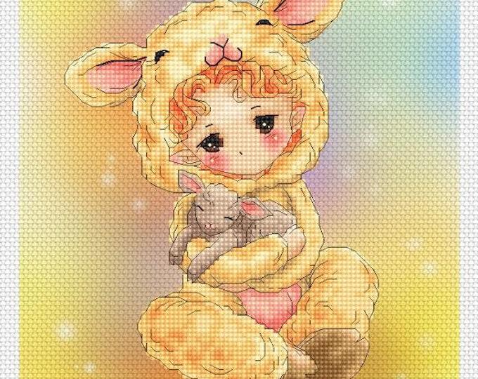 Lamb Baby Mitzi Sato-Wiuff - Cross stitch Chart Pattern