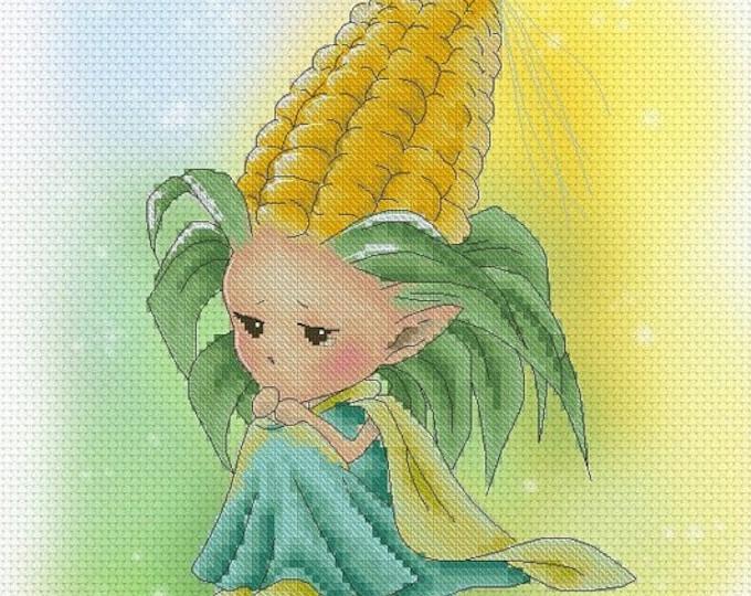 Corn Sprite Mitzi Sato-Wiuff - Cross stitch Chart Pattern