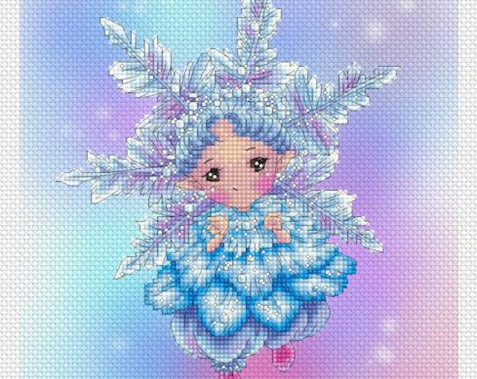Snowflake Sprite Mitzi Sato-Wiuff - Cross stitch Chart Pattern