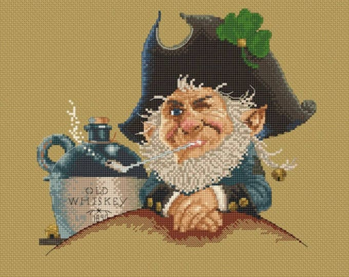 Cross Stitch Chart Old Whisky by Jean-Baptiste Monge