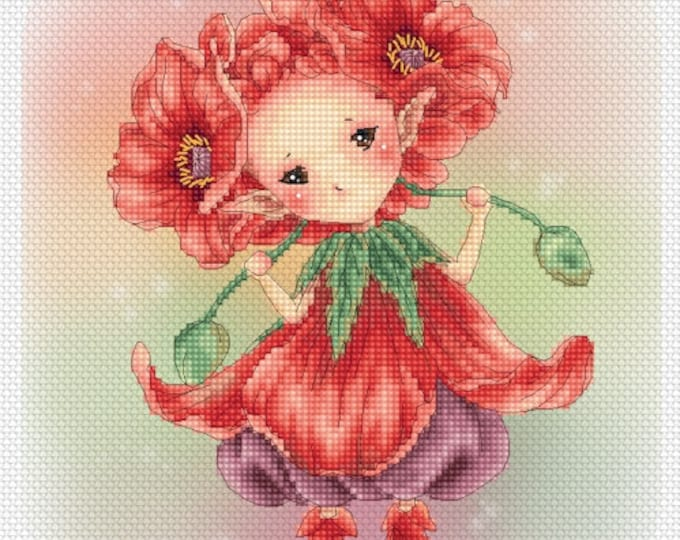 Poppy Sprite Mitzi Sato-Wiuff - Cross stitch Chart Pattern