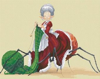 Cross Stitch Chart Aunti Filoche by Pascal Moguerou Fantasy Art