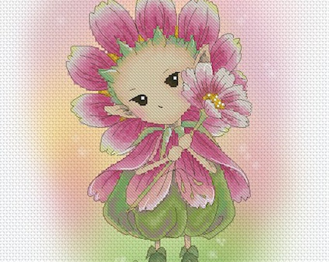 Cross stitch Chart Pattern Flower Sprites -  Cosmos Sprite