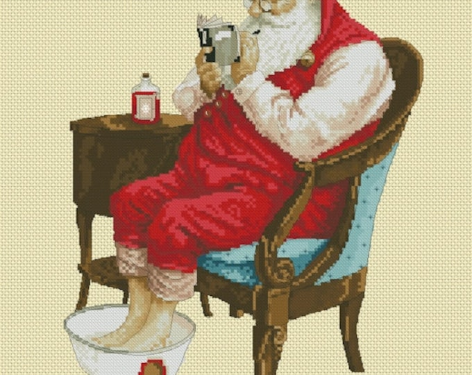 Cross Stitch Chart Santa's Evening  by Jean-Baptiste Monge