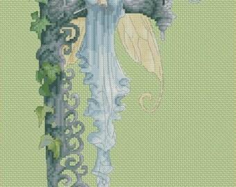 Cross Stitch Chart Fairy F for Fiona by Pascal Moguerou
