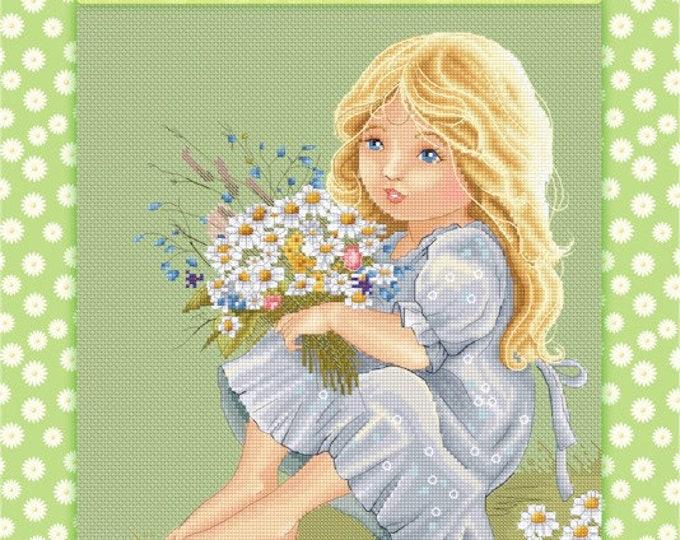 Daisy - Katerina Babok Girls Cross Stitch and Needlepoint Chart Pattern
