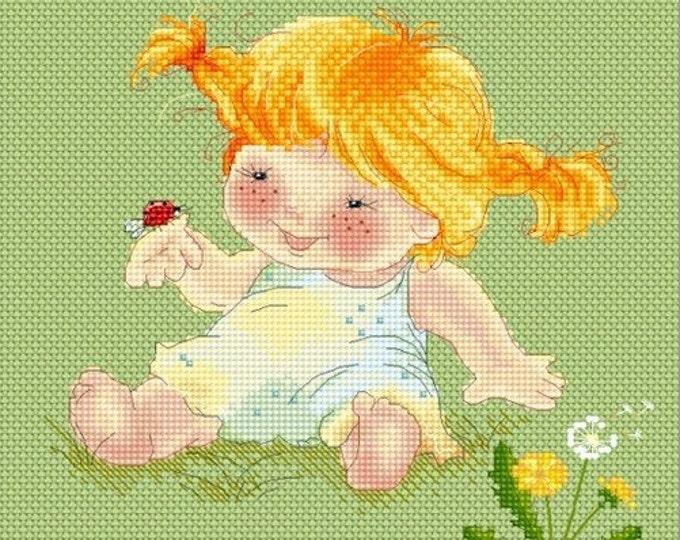 Ladybug Friend Cross Stitch Chart Pattern by Katerina Babok