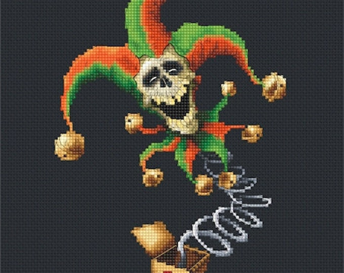 Cross Stitch Chart Jack in the Box by Pascal Moguerou