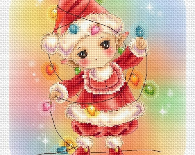 Cross stitch Chart Pattern Fairy Lights Garland