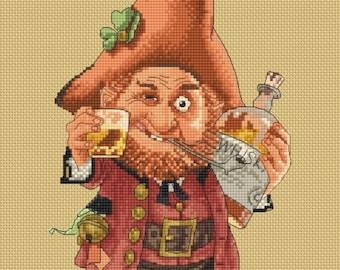 Cross Stitch Chart or Kit St.Patrick Goblin Fantasy Jean-Baptiste Monge