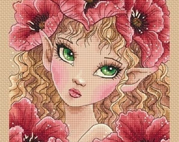 Big Eyes Poppy Fairy Mitzi Sato-Wiuff - Cross stitch Chart Pattern