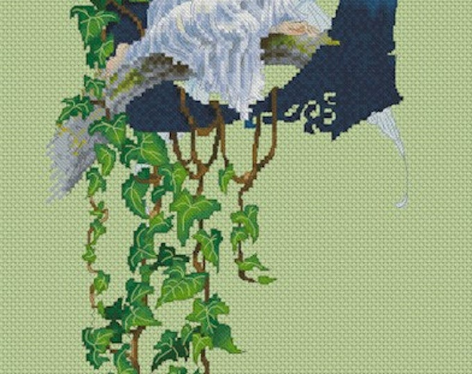 Cross Stitch Chart Fairy Letter U by Pascal Moguerou