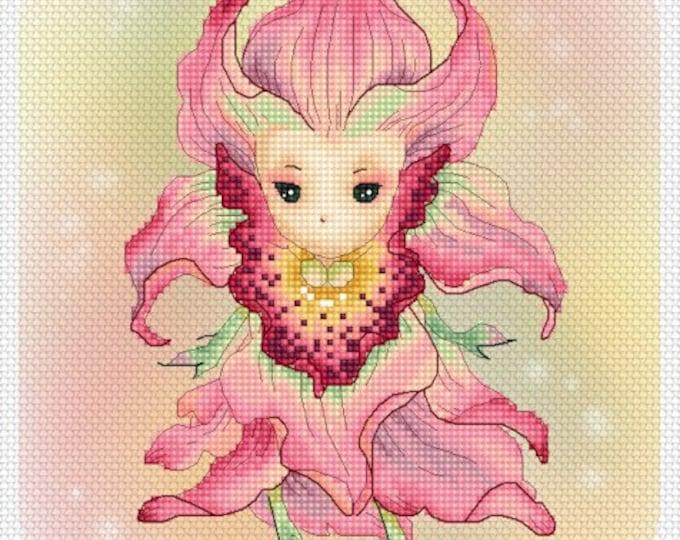 Cross stitch Chart Pattern Flower Sprites -  Orchid Sprite