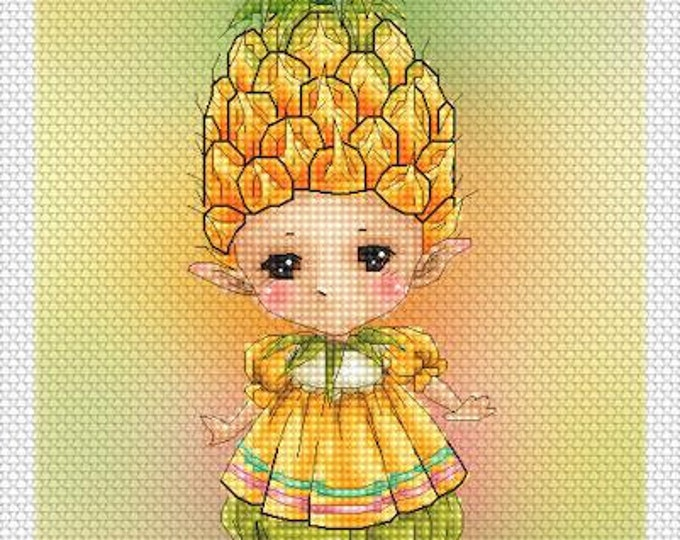Pineapple Sprite Mitzi Sato-Wiuff - Cross stitch Chart Pattern