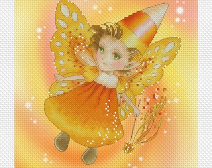 Candycorn Sprite Mitzi Sato-Wiuff - Cross stitch Chart Pattern