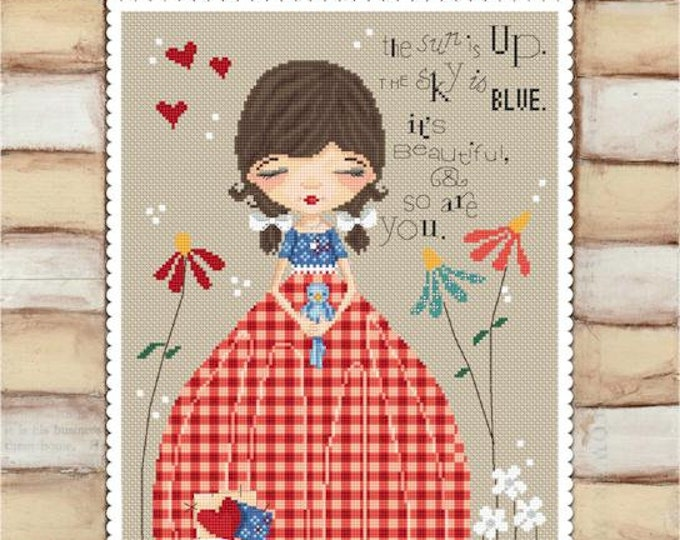 So are you - art of Diane Duda - Cross stitch chart pattern -Lena Lawson Needlearts
