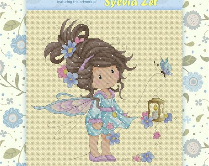 DISCONTINUED Sweet Periwinkle by Sylvia Zet  - Cross Stitch Needlepoint Chart Pattern