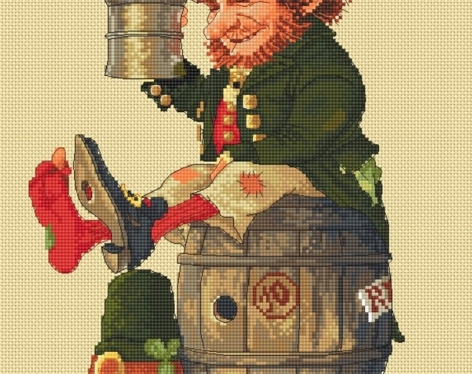Cross Stitch Chart Goblin Rye Leprechaun - Art of Jean-Baptiste Monge