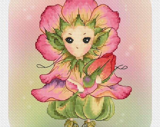 Rose Sprite Mitzi Sato-Wiuff - Cross stitch Chart Pattern