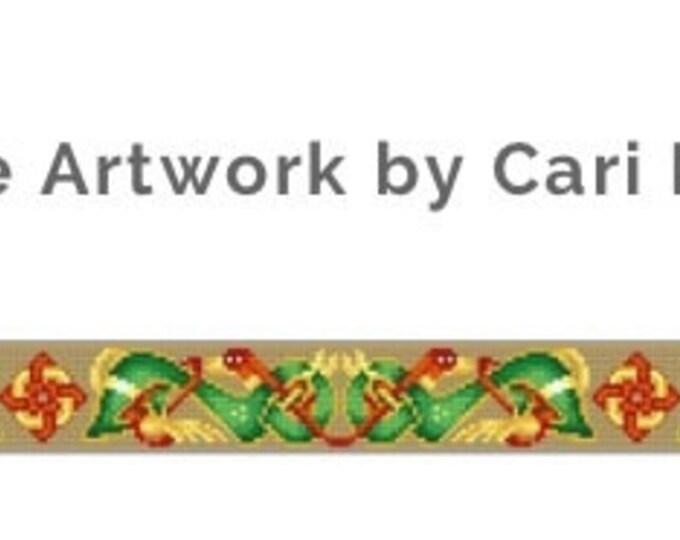 Celtic Hounds Belt Needlepoint color chart cross stitch