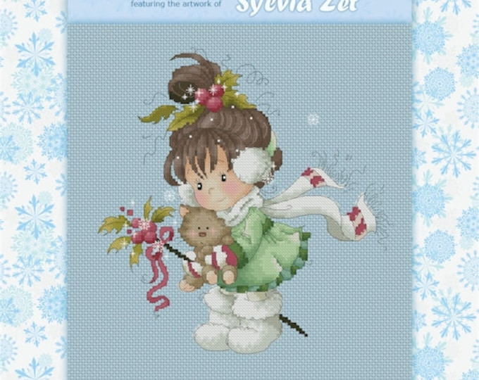 DISCONTINUED Holly by Sylvia Zet  - Cross Stitch Needlepoint Chart Pattern